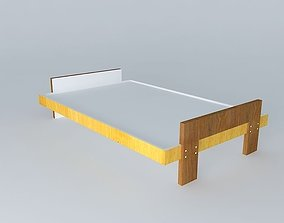 Cot in plywood 3D model