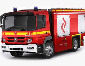 Fire Truck Mercedes Atego 3D