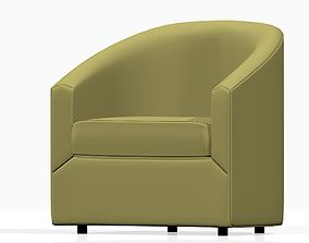 3D Low poly realistic armchair for living room
