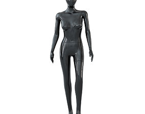 Female black mannequin in a standing pose 55 3D