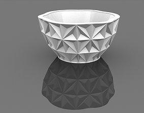 cyrstal 3dprintable Parametric Ceramic Bowl