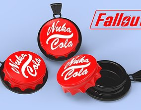 Bottle cap from the game Fallout 3D printable model 3
