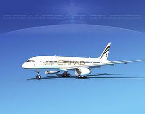3D Boeing 787-8 Etihad