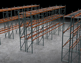 Warehouse storage steel 3D