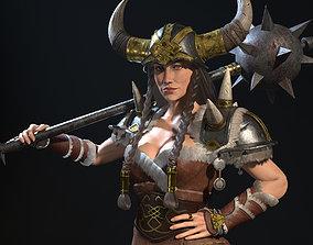 3D model Viking Lady