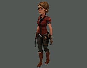 3D girl cowboy bandin