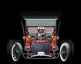 3DS max 2018 CORONA RENDER Hot road car machine