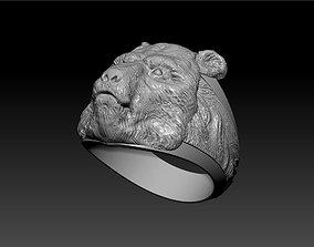 gift 3d model of the bear ring for print