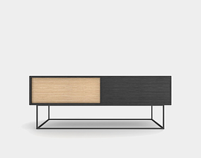 Low sideboard out of wood 3D model