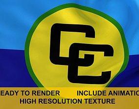 animated CARICOM 3d Flag