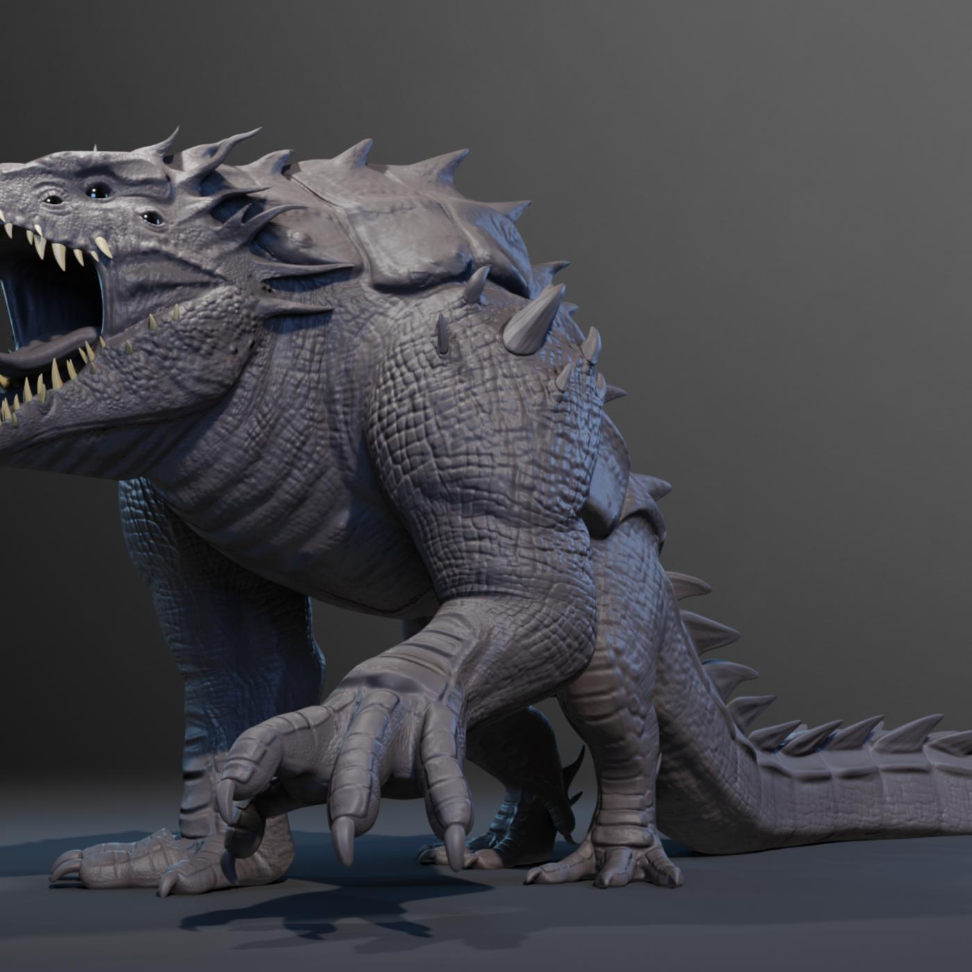 Crocorilla / Creature model TIMELAPSE