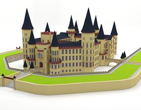 3D asset game-ready Castle republic