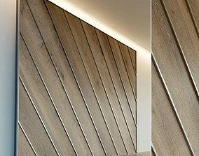Wooden wall panel 65 3D asset