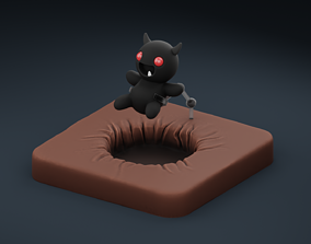 The Binding of Isaac Little Horn action 3D printable model