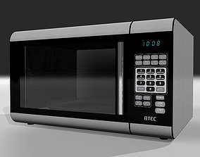 kitchen 3D model Microwave Oven with Opening Door