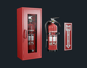 Fire Extinguisher Pack Game Ready 3D model game-ready