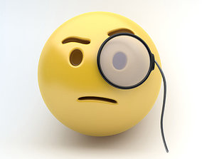 EMOJI monocle 3D model