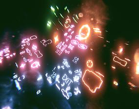 Neon Glow displays 3D model