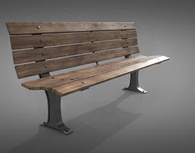 Bench 3D model PBR