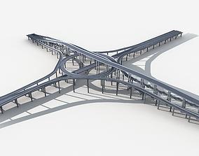 3D model Highway Road Viaduct Flyover 05