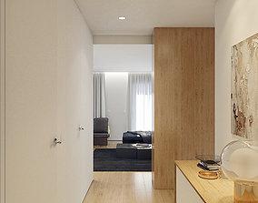 Interior apartment design 3D model