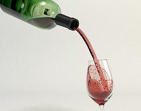 3D Zinfandel Tilted Pour