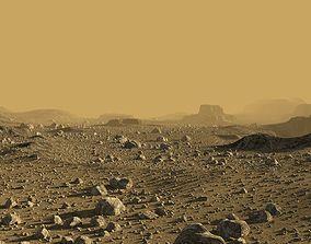 rock 3D Mars in Blender
