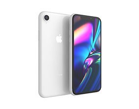 iPhone XR White 3D model