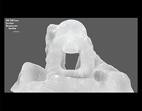 ice skull cave 3D model