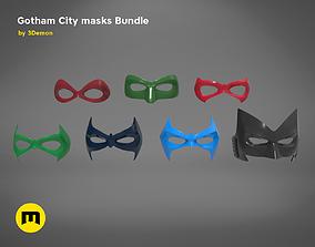 3D printable model Gotham City mask bundle