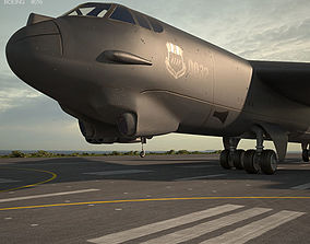 b52 3D Boeing B-52 Stratofortress