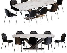 Cattelan Italia Tina chair Stratos Keramik table 3D model