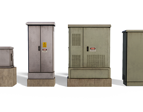 VR / AR ready ElectricBox 3D model Pack