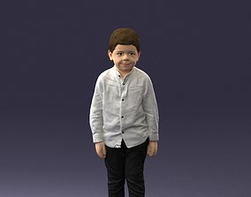 Frowning boy in a shirt 0278 3D Print Ready