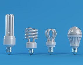Energy Saver Lightbulb Set 3D model