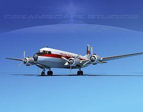 Douglas DC-7B Redline Air Cargo 3D
