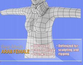 3D asset Arab Female