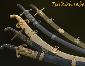 Turkish sabers 3D asset