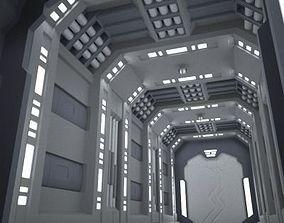 SciFi Corridor A 3D