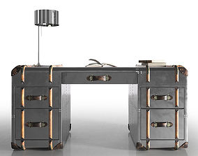 3D model leather Globetrekker Aero Desk