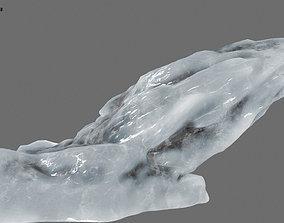3D model VR / AR ready ice mountain ground