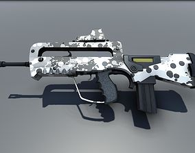 Famas G2 Bullpup Action Rifle 3D asset game-ready
