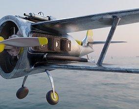 3D model world war fighter jet