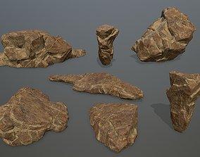 mount 3D model realtime desert rocks