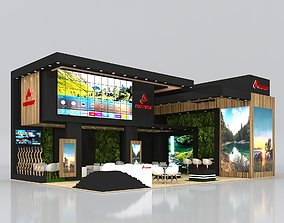Exhibition Stand Booth Stall 12x8m Height 550cm 3D model 2