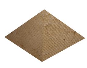 3D asset VR / AR ready Egyptian Pyramid