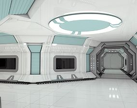 Modular Spaceship Interior MAX 3D