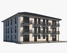 Apartment Building 001 3D model