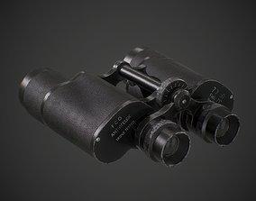 Binocular 3D model PBR military