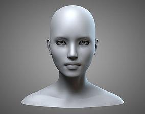 Female Head 1 3D model